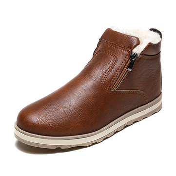 Men PU Leather Casual Boots