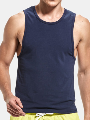 be08310745b4 Pure Color Fitness Cotton Tank Top