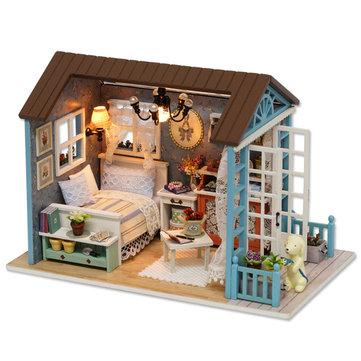 الوقت السفر الخشبي الاطفال بيت الدمية الطفل المبدع هدية