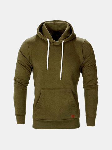 Men's Solid Color Sports Hoody