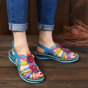Hand Painted Leather Sandals