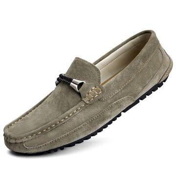 Chaussures de conduite décontractées pour hommes en cuir
