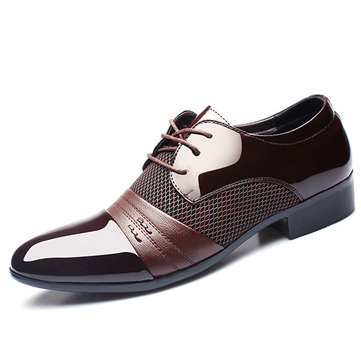 Men Formal Pointed Toe Blucher Shoes