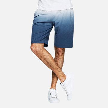Mens Gradient Breathable Cotton Casual Shorts