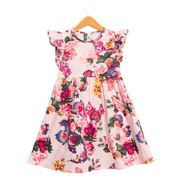 Floral Girls Sleeveless Kleid Für 2J-11J
