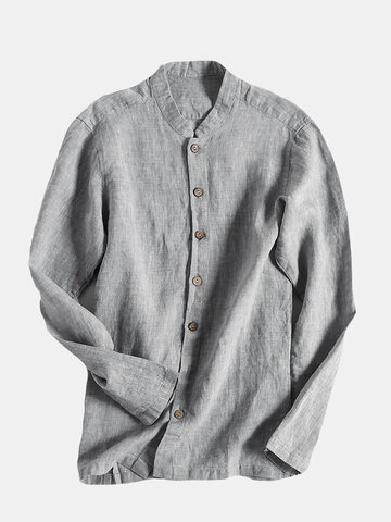 Men Casual Shirt Cotton Linen