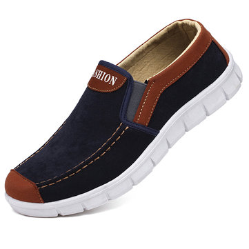 Homens lona antiderrapante Soft Casual Shoes