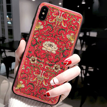 Vogue Chinese Style Palace Emboss Phone Case