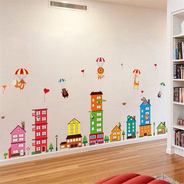 Maison amovible en vinyle Décoration Art Mural Stickers muraux Decal Kids Baby Nursery Room