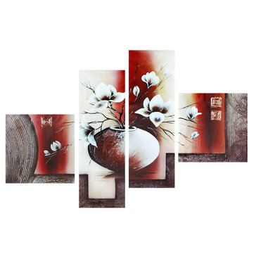 4Pcs Modern Abstract Canvas Painting