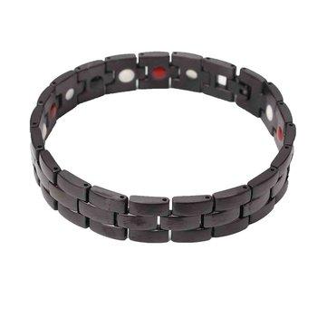 Men Energy Bracelet Black Magnetic Health Therapy Care Pain Relief Energy Bracelet