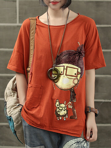 2553f5d2111b Print Cartoon Short Sleeve T-Shirt