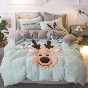 4Pcs Shearling Bedding Set