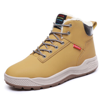 Men Warm Outdoor Causal Leather Boots