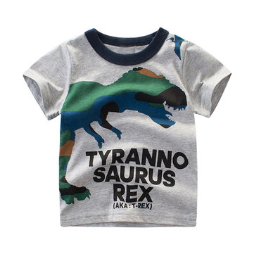 Dinosaur Boys Summer Tees For 2Y-9Y