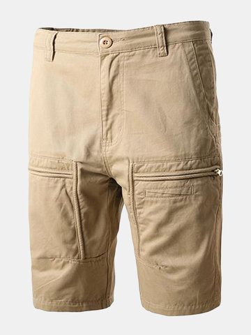 db6d6b33577e2 ChArmkpR Casual Cotton Cargo Pants Solid Color Loose Plus Size Shorts For  Men