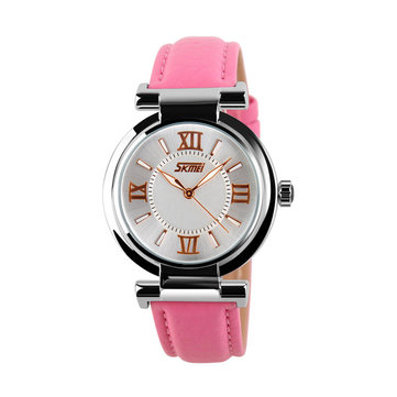 SKMEI Watch Casual Leather Watch for Women