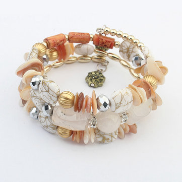 Bohemian Multilayer Beaded Bracelet