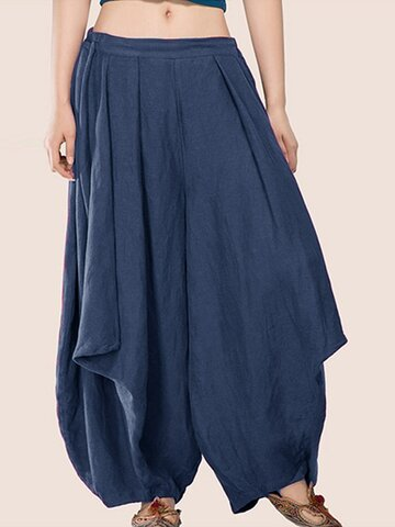 Elastic Waist Harem Pants For Women