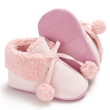 Ball Decor Baby Boots For 0-2 Years