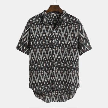قمصان رجالي عرقية مطبوعة