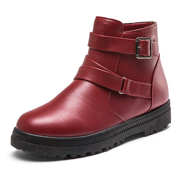 Large Size Buckle Boots