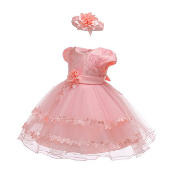 Lace Flower Girls Dress For 0-24 Months