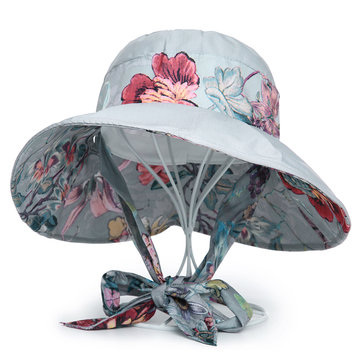 Foldable Summer Polyester Print Beach Sun Bucket Hat