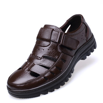 Men Genuine Leather Casual Sandals