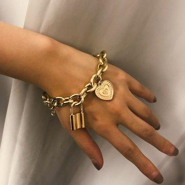 Trendy Lock Big Chain Bracelet