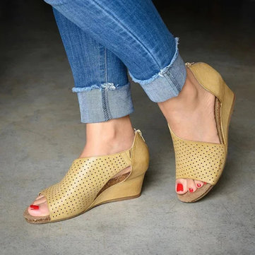 Вырезы Slip On Wedges Сандалии