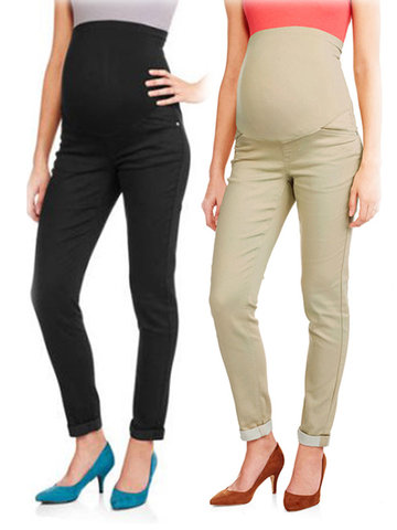 2339beb60701c Belly Maternity Pants Elastic Waist Pencil Trousers Clothes for Pregnant  Women Pregnancy Pants