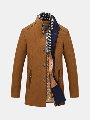 Wool Detachable Scarf Jacket