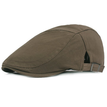 Mens Adjustable Cotton Beret Caps