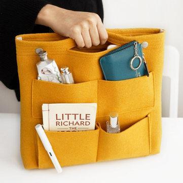 Bolso de almacenamineto de fieltro con multi-bolsillos