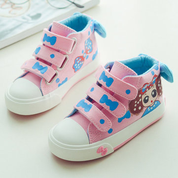 Girls Cartoon Bowknot Lovely Casual Shoes