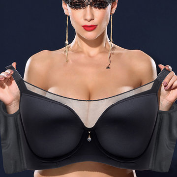 Plus Size Push Up Seamless Full Cup Thin Bra