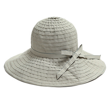 Women Summer Foldable Breathable Stripe Wide Brim Hat 9491e168ca8