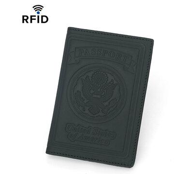 Echtes Leder RFID Antimagnetic Passport Wallet