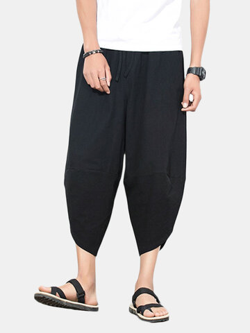 Mens Cotton Loose Harem Pants