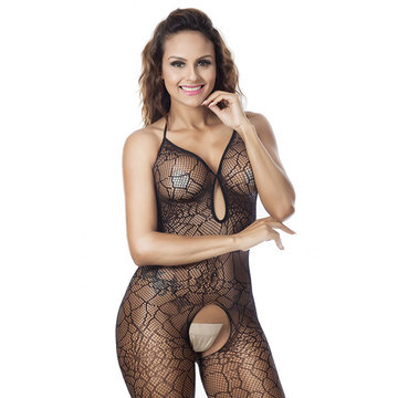 Open Crotch Backless Bodystocking