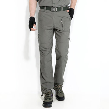 Mens Outdoor Quick-drying Waterproof Windproof Casual Sport Trousers Tactical Pants Overalls