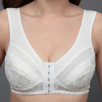 Cotton Front Closure Deep Plunge Bras