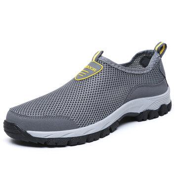 Sneakers antidérapants résistants à l'usure en maille pour homme