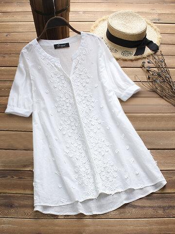 Blusa Bordado Vintage