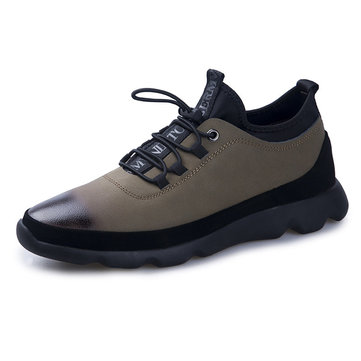 Men Leather Soft Sole Causal Shoes