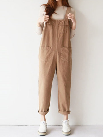 Casual Solid Color Jumpsuits