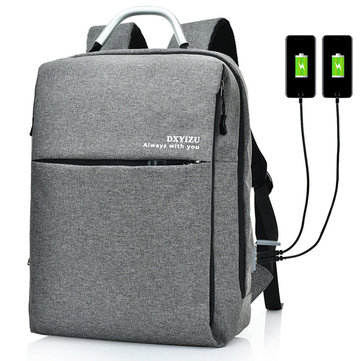 15.6 Inch Backpack Solid Laptop Bag
