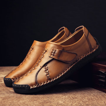 Menico Men's Vintage Hand Stitching Leather Shoes
