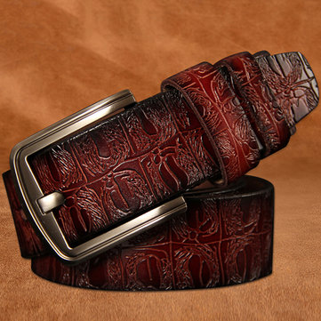 125CM Men Cowhide Leather Belt
